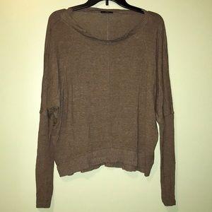 Zara Dolman Knit Long Sleeved Top (Brown) [S]